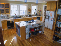 Kitchen Island with tile counters