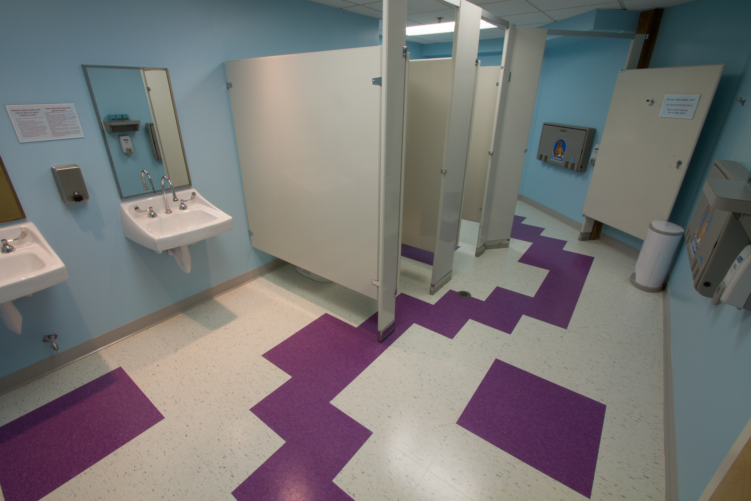 Funky Toilet Room Floor