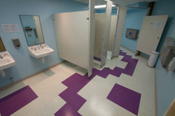 Funky Toilet Room Floor