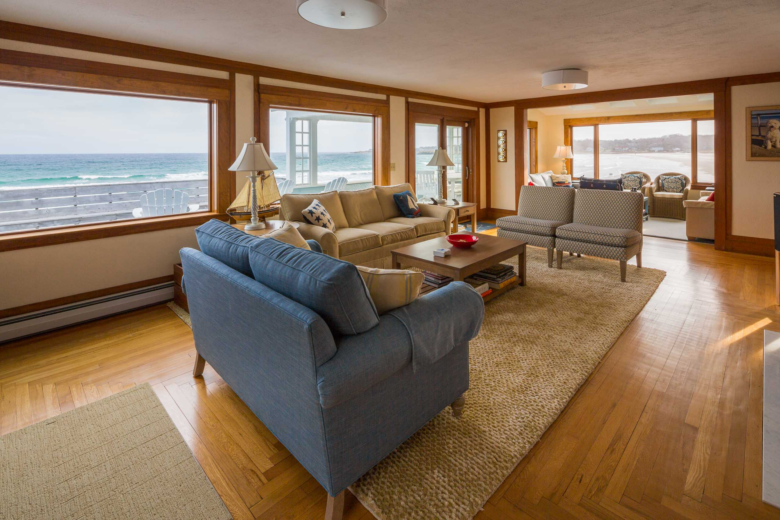 Gloucester Beach House living room