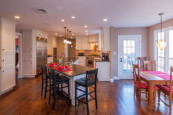 New kitchen with breakfast area
