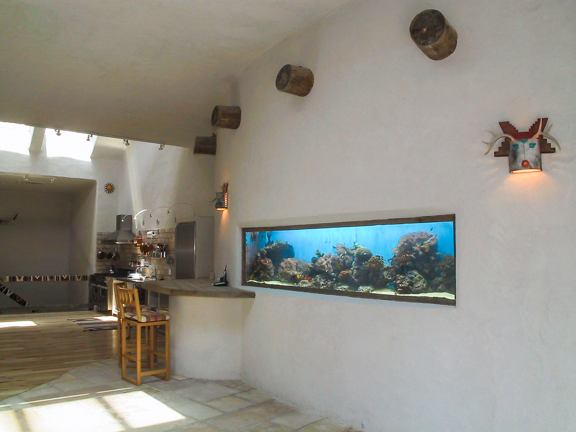 Salt Water Fish tank in living room