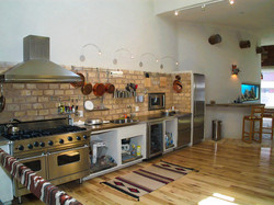 Kitchen with no Cabinets