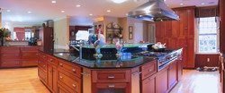 View of kitchen/ dining/ family room