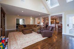 Family Room with Cathedral ceiling