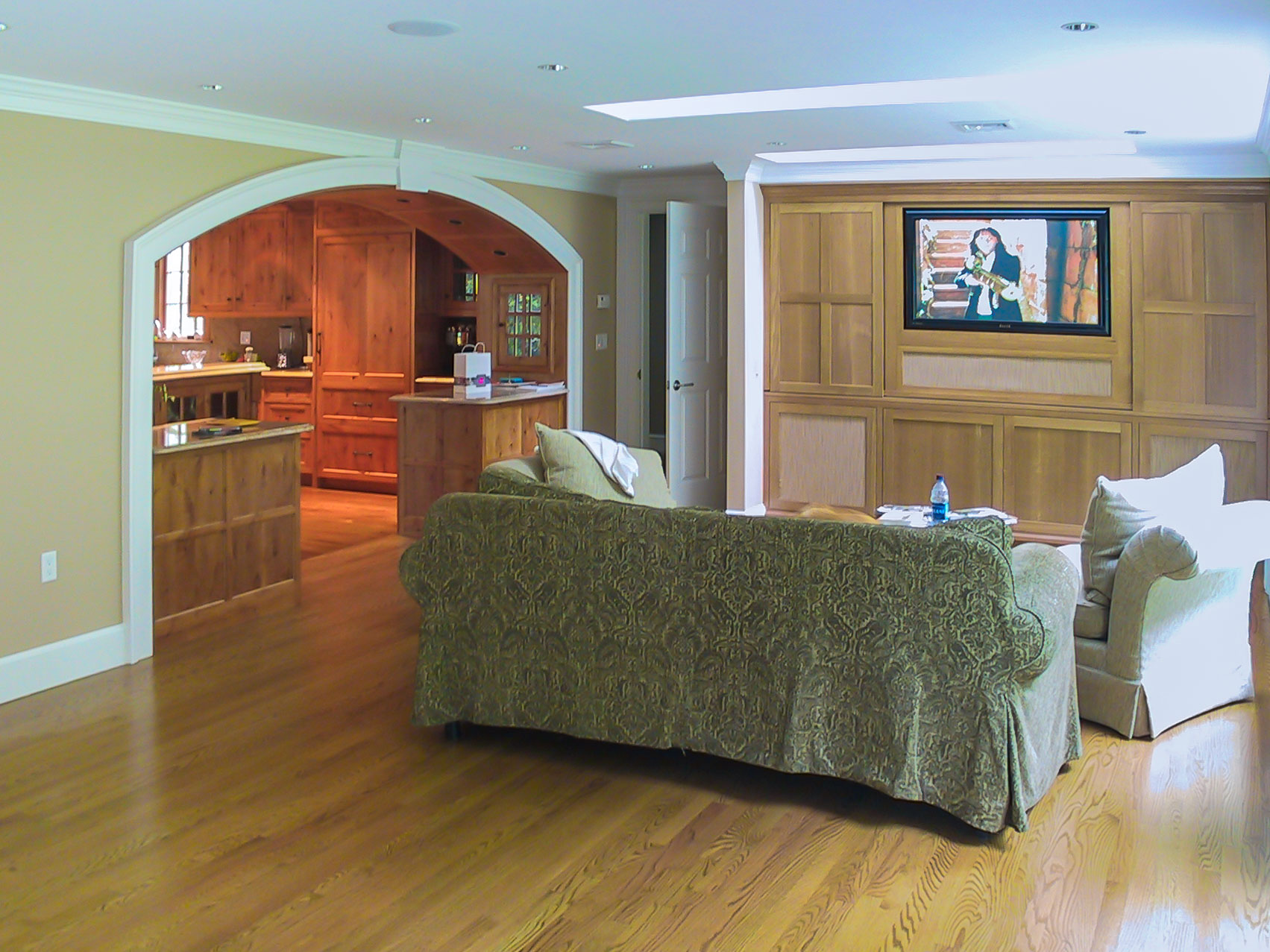 Kitchen and Family Room trade places