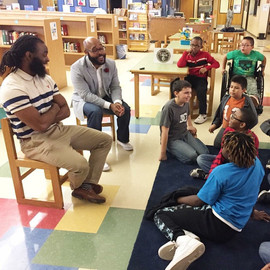 Calvin Littlejohn, spending time with students