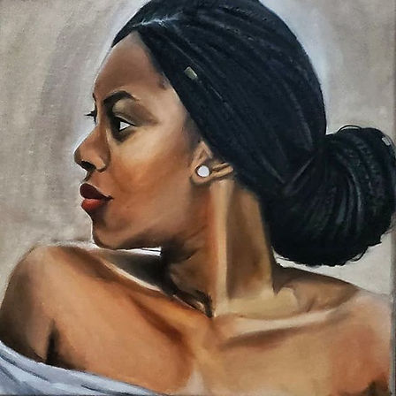 _Quineshia_ _Oil on canvas • 12in x 12in