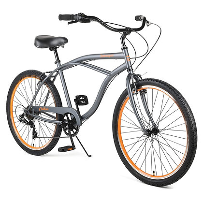 Retrospec Chatham 7spd Men Beach Cruiser Color Graphite and Orange