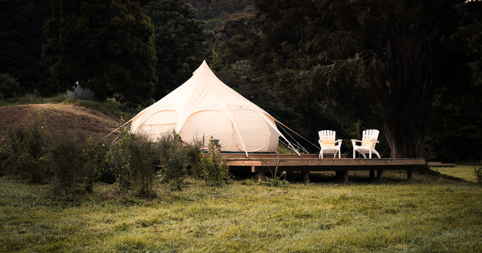 Exterior View Of Tent