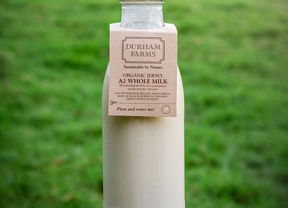 1l Organic A2 Jersey Whole Milk