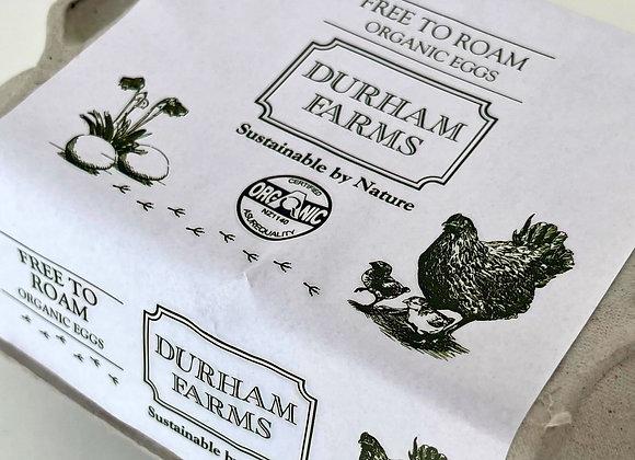 6 x Dozen Organic Eggs - Free To Roam & Pasture Fed