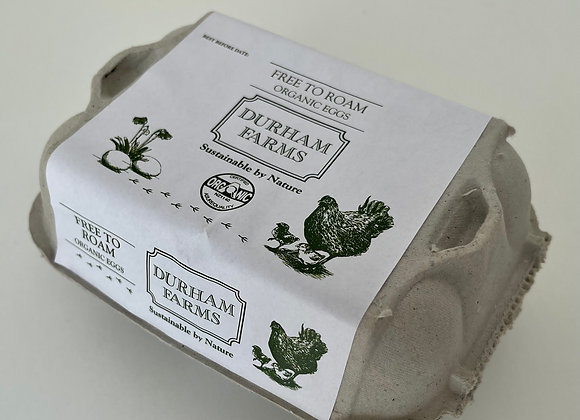 6 x 1/2 Dozen Organic Eggs - Free To Roam & Pasture Fed
