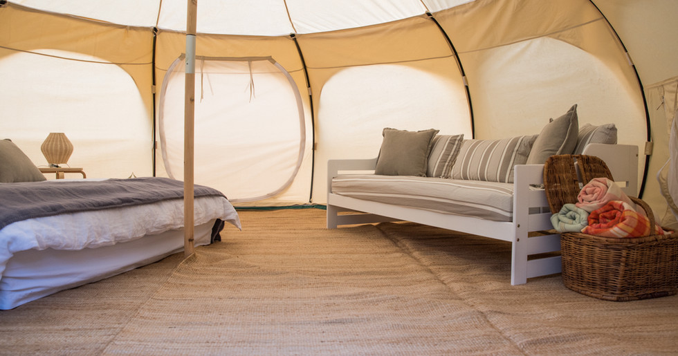 Interior View Of Tent