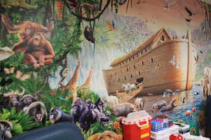 Noahs Ark Mural Bethesda Community Clinic