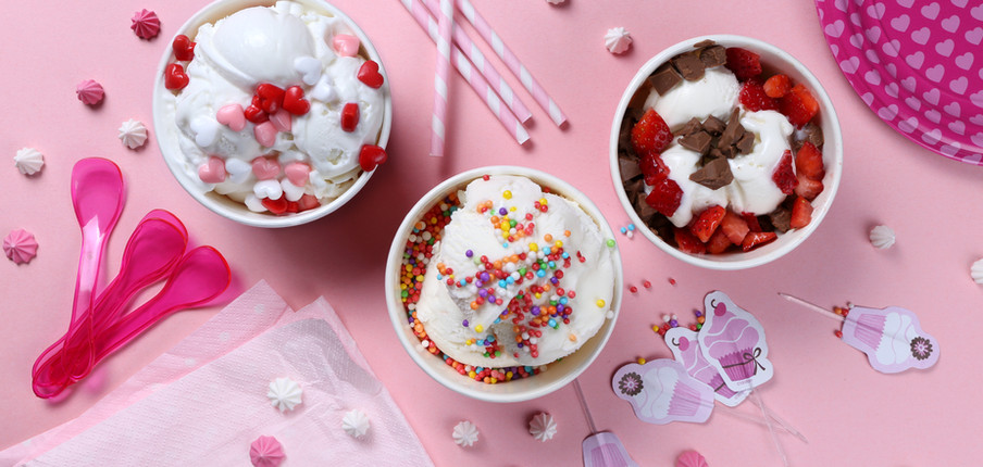 Partij van de verjaardag met Ice Cream