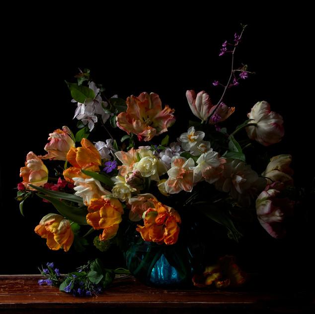Vanitas with Orange Tulips 0755