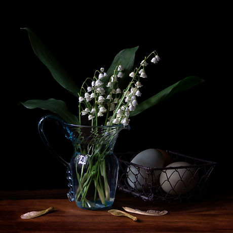 Vanitas with Lily of the Valley and Eggs