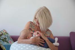 Grossmutter und Baby
