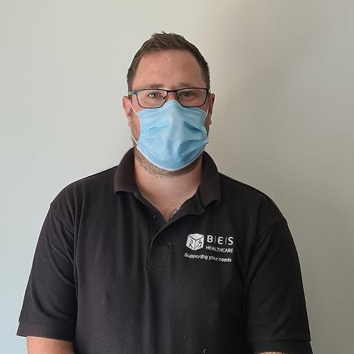 Single use disposable face masks