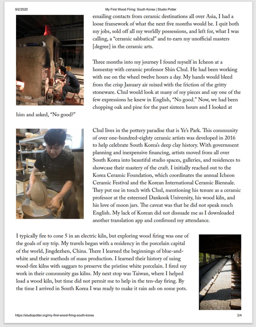 Studio Potter pg.2