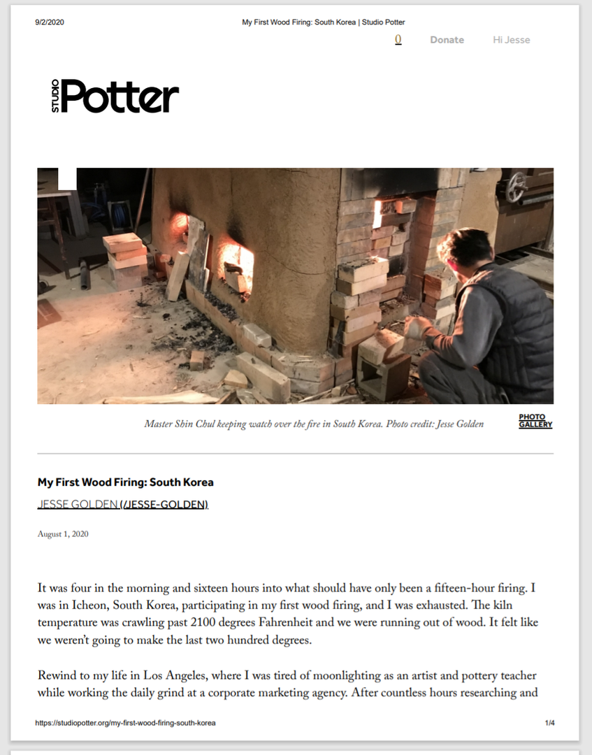 Studio Potter pg.1