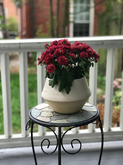 White Wave Medium Planter