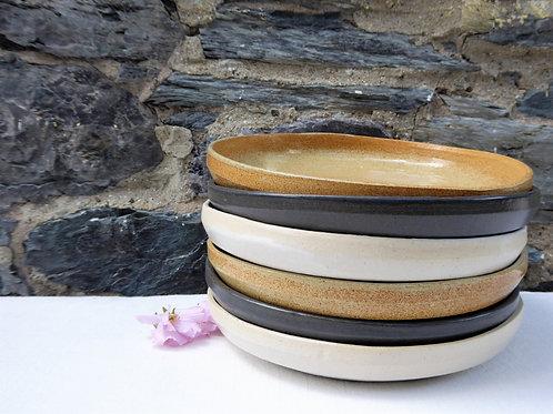 Shallow Pasta Bowl Set   Geo Series