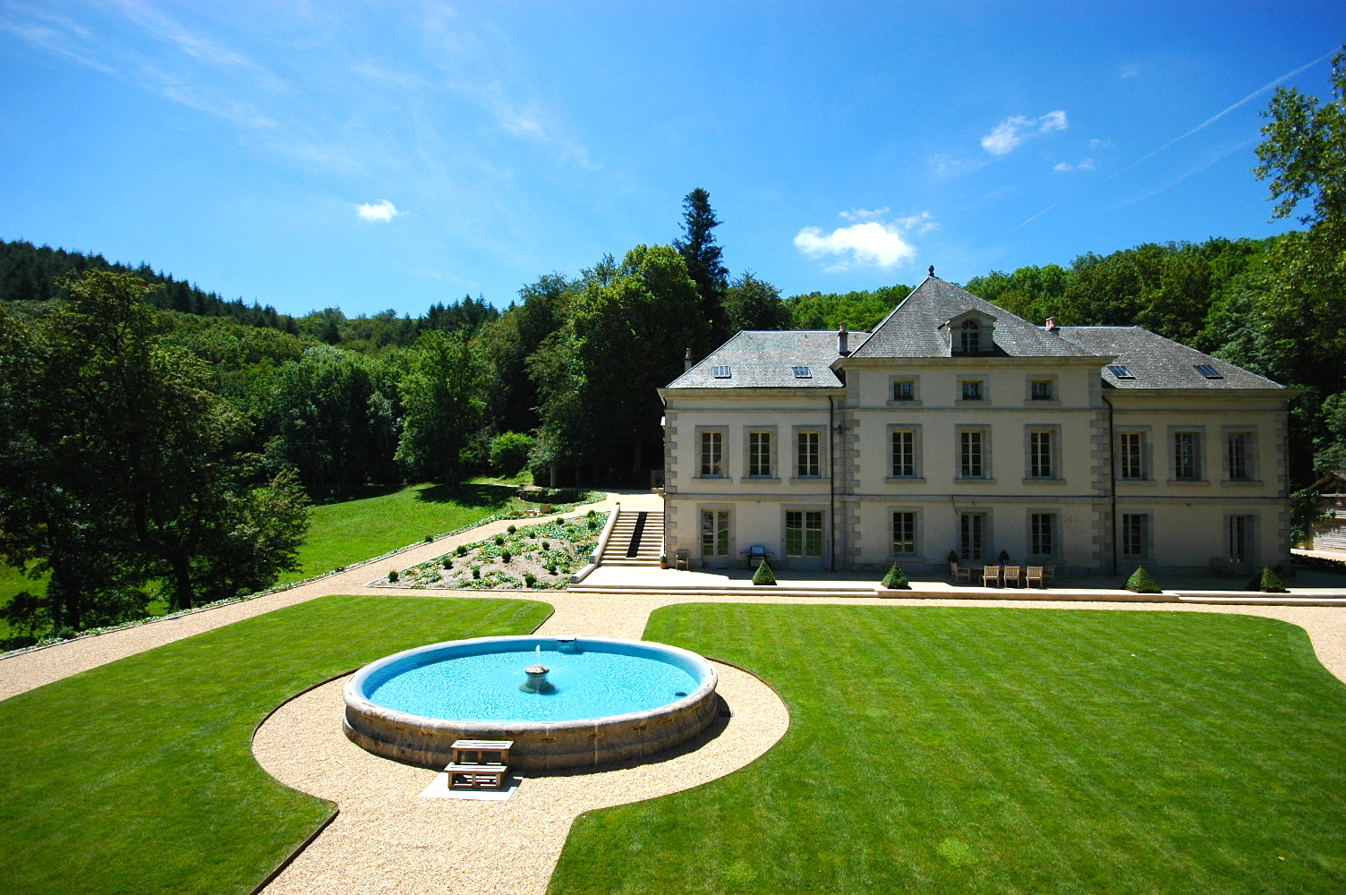 View of Chateau from Pigeonnier