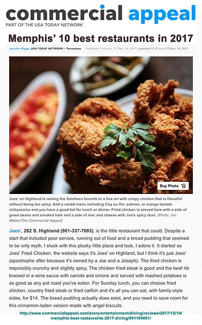 Best 10 Restaurants In Memphis 2017
