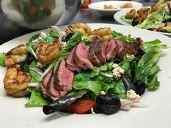 Greek Salad with Shrimp and Lamb