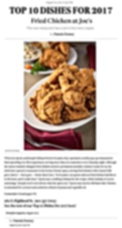 Memphis Magazin, Top 10 Dishes