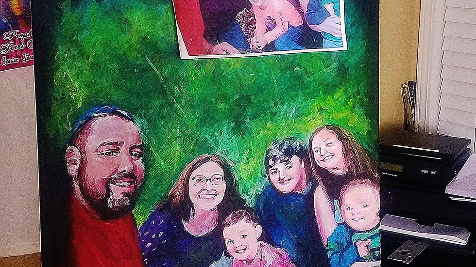 Family Oils Portrait Painting Up to 9 people