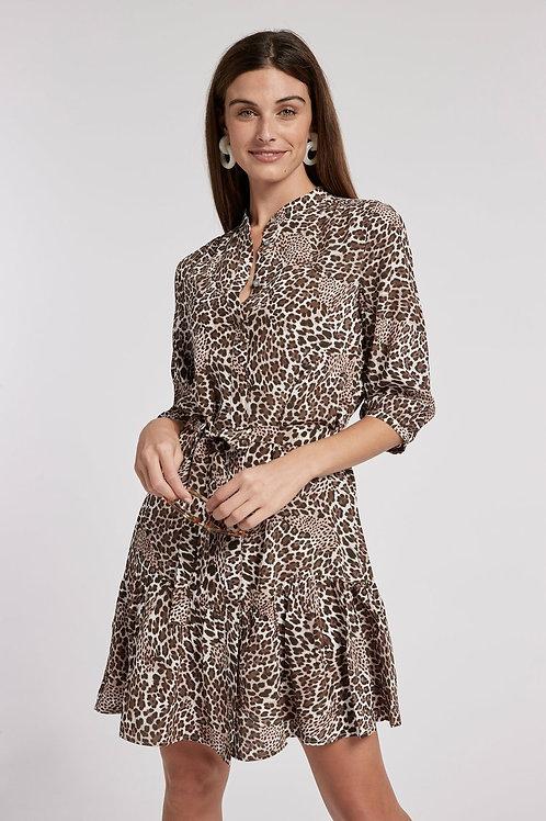 Petra Silk Leopard Dress