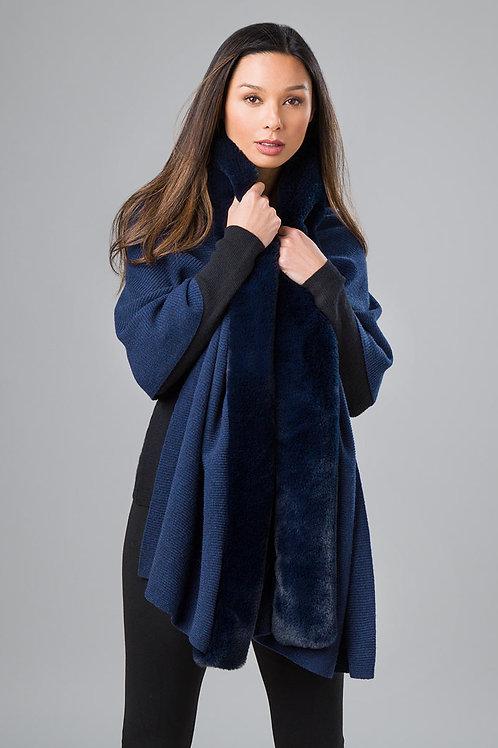 Faux Fur Reversible Wrap