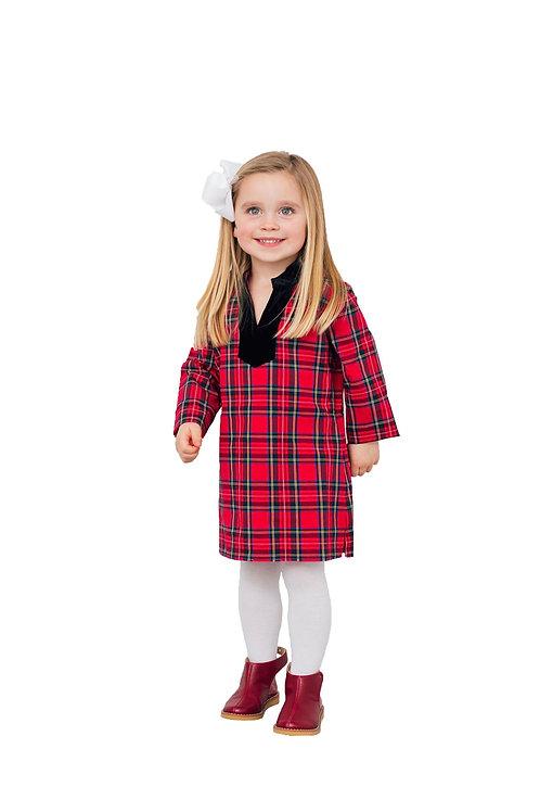 Kids Holiday Plaid Tunic Dress