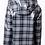 Thumbnail: Midnight Plaid Hooded Rain Jacket