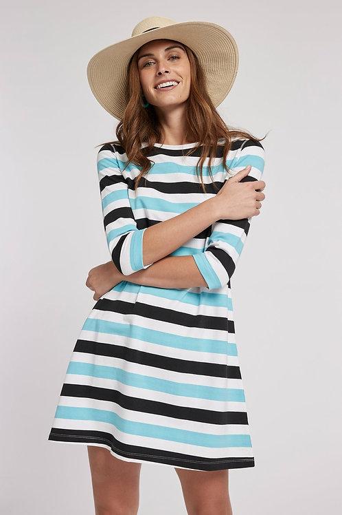 Alexa Striped Cotton Dress