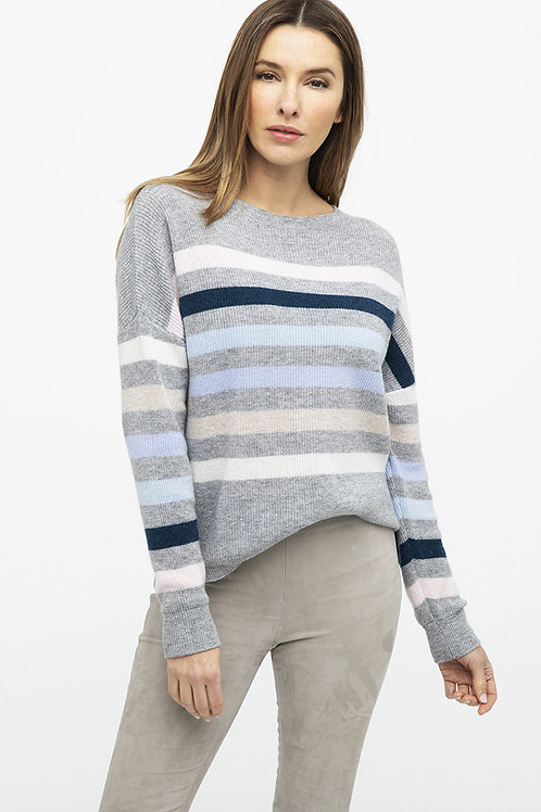 Ribbed Striped Pullover