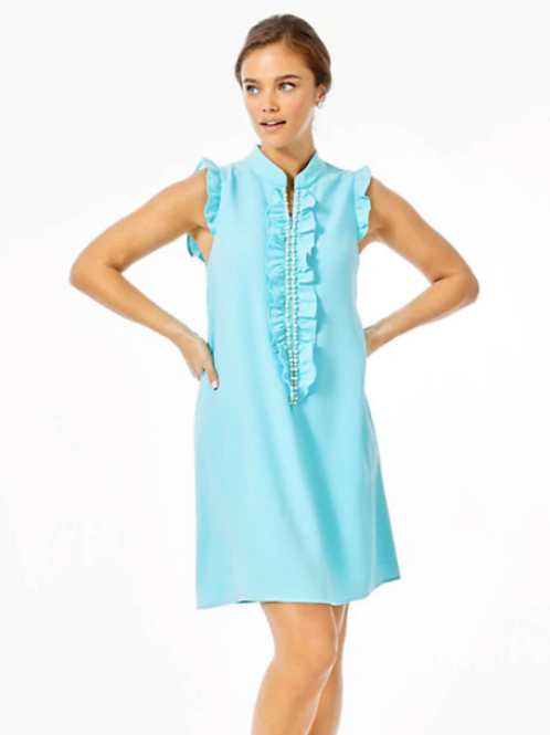 Adalee Shift Dress Ibiza Blue