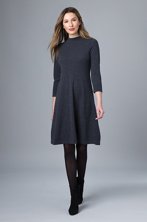 Mock Neck Turtleneck Dress