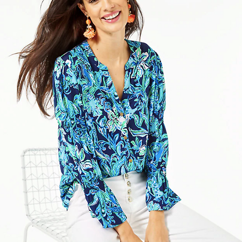 Maritza Button Down Top