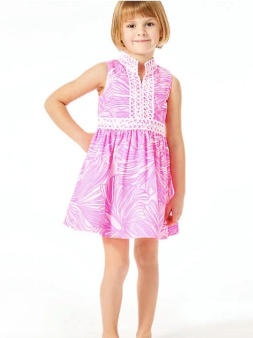 Girls Mini Franci Dress in Fronds Place
