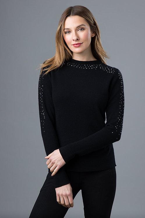 Rhinestone Cashmere Sweater