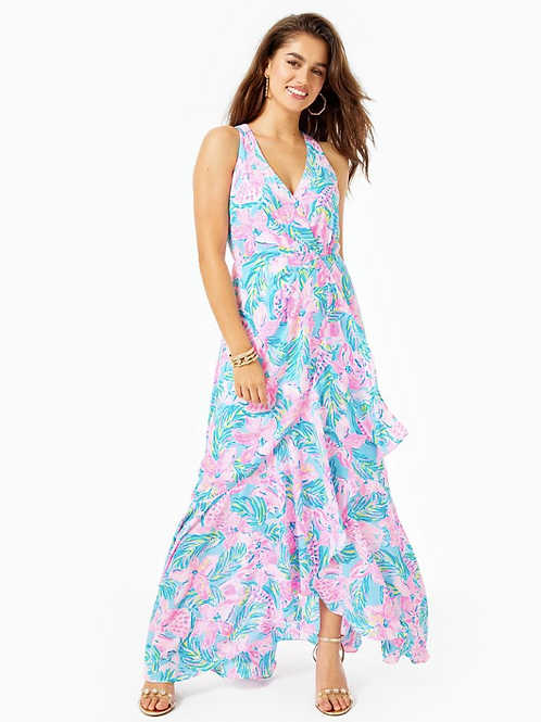 Taylee Flounce Maxi Dress