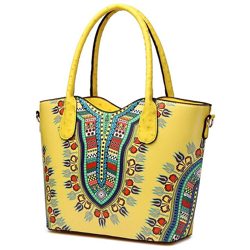 Multi-Color Yellow Full Size Bag