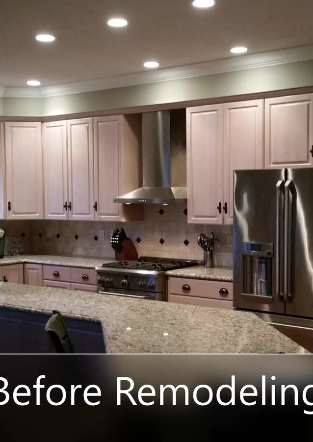 Custom kitchen 'Before' Bay Colony