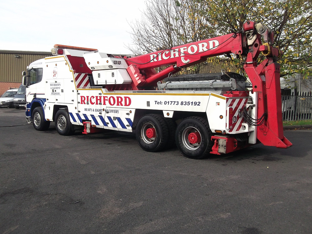 richford scania recovery truck for sale