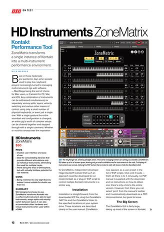 """Sound On Sound"" magazine reviews ZoneMatrix"