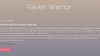 """Raven Warrior"" soundtrack available for purchase!"